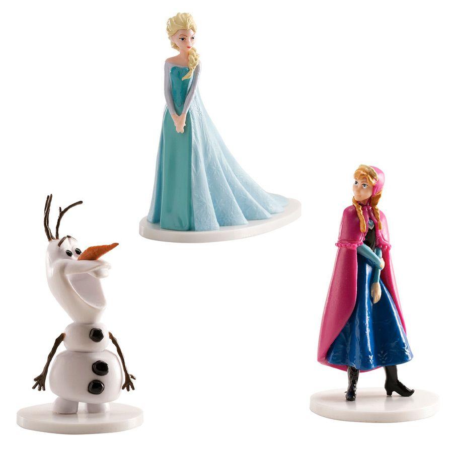 set figurines reine des neiges elsa anna olaf. Black Bedroom Furniture Sets. Home Design Ideas