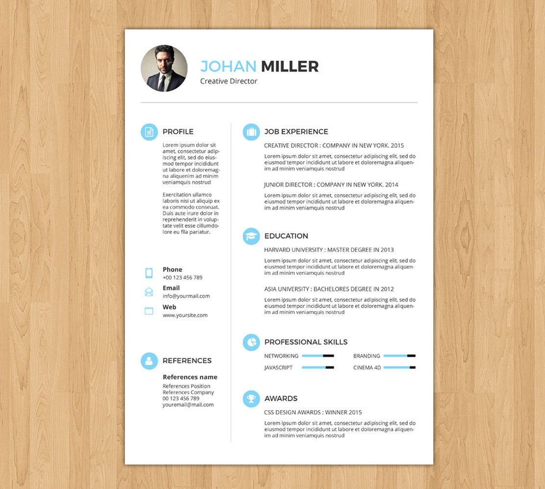 Professional And Creative Resume Template  Word Resume  Cv Design