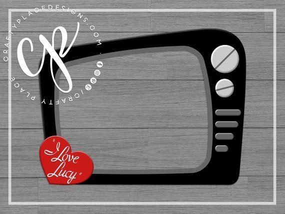 I Love Lucy Photo Booth Frame Bridal Shower Prop Bachelorette Selfie Fr