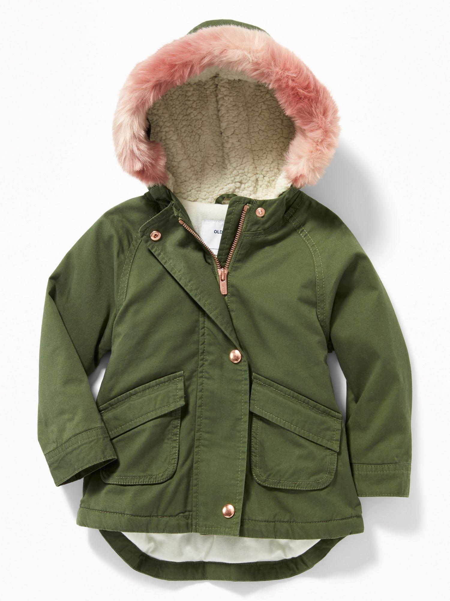 12b92f5b2 product photo Field Jacket, Rain Jacket, Fur Trim, Hey Girl, Faux Fur