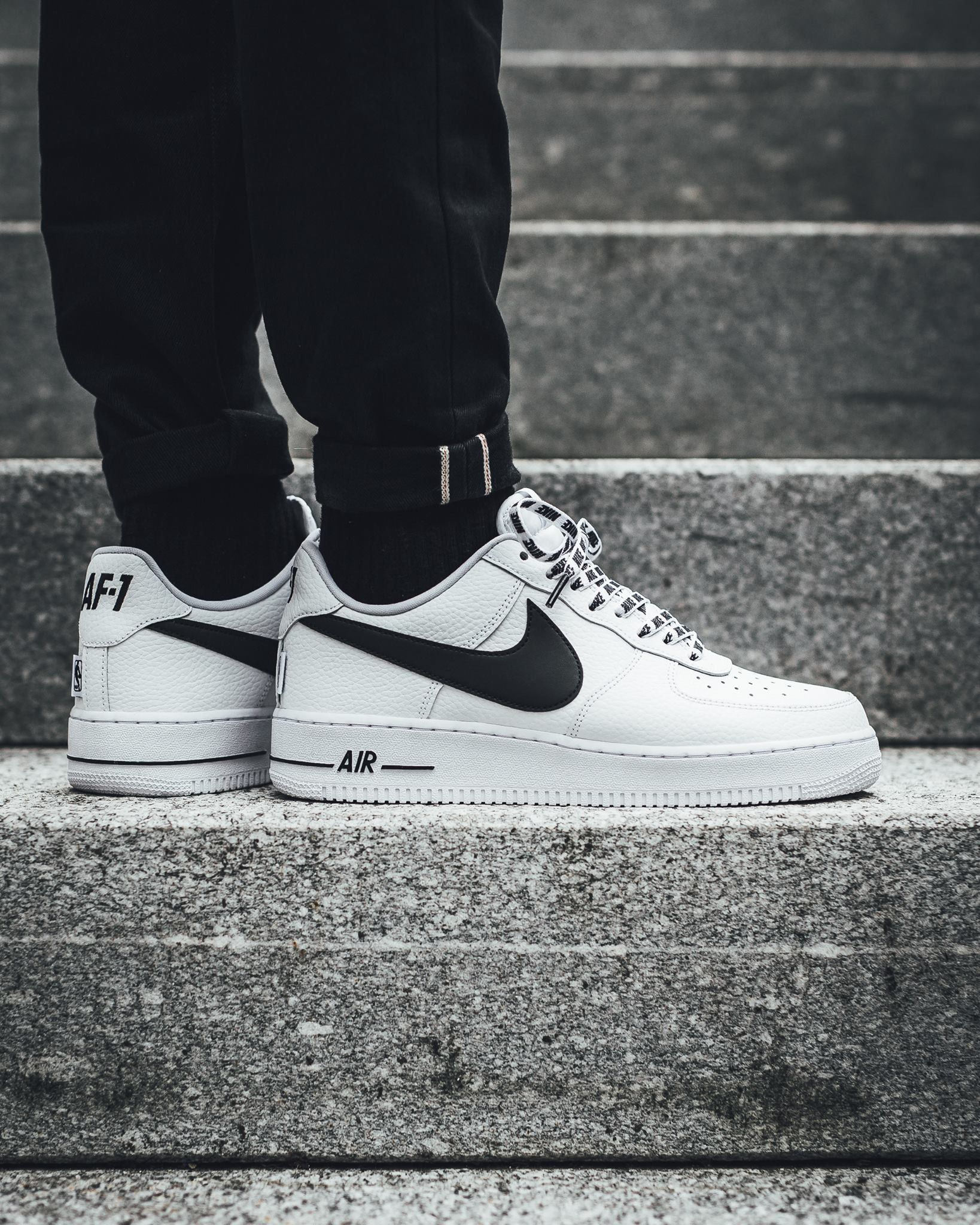 air force 1 nba negras