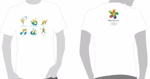 camisetas olimpíadas 2016 (01) - 06 estampas. escolha a sua.