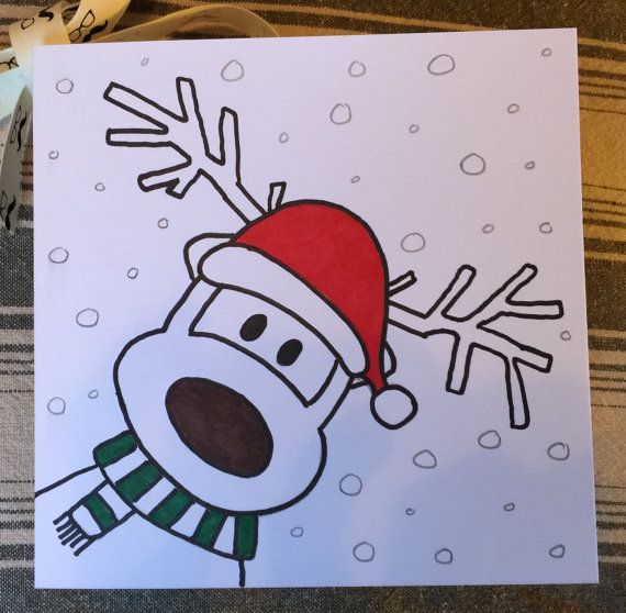 christmas cards hand drawn 15 cards by supergrimesemporium more christmas cards drawing
