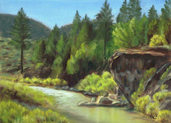 Vickie Chew - Along the River- Oil - Painting entry - September 2013 | BoldBrush Painting Competition