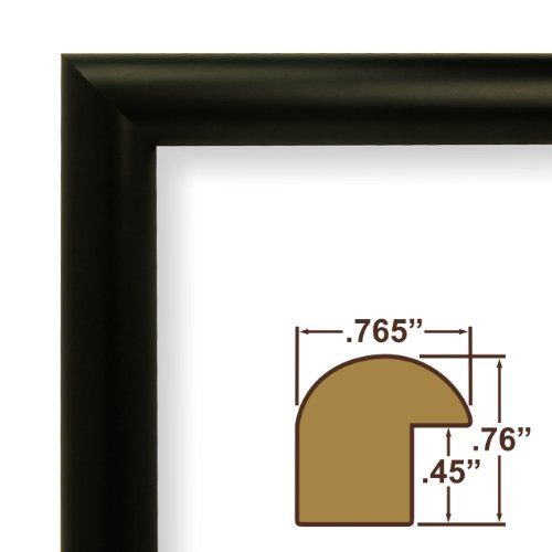 Craig Frames Fw2bk1114a 0 765 Inch Wide Picture Poster Frame In Smooth Finish 11 By 14 Inch Matte Black Crai Poster Frame Custom Picture Frame Picture Frames