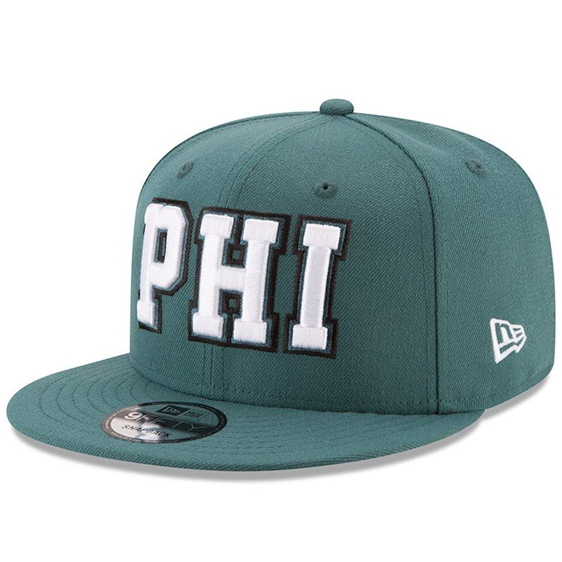 8b2ccf3ed8229 Philadelphia Eagles New Era Home Turf 9FIFTY Adjustable Snapback Hat -  Midnight Green