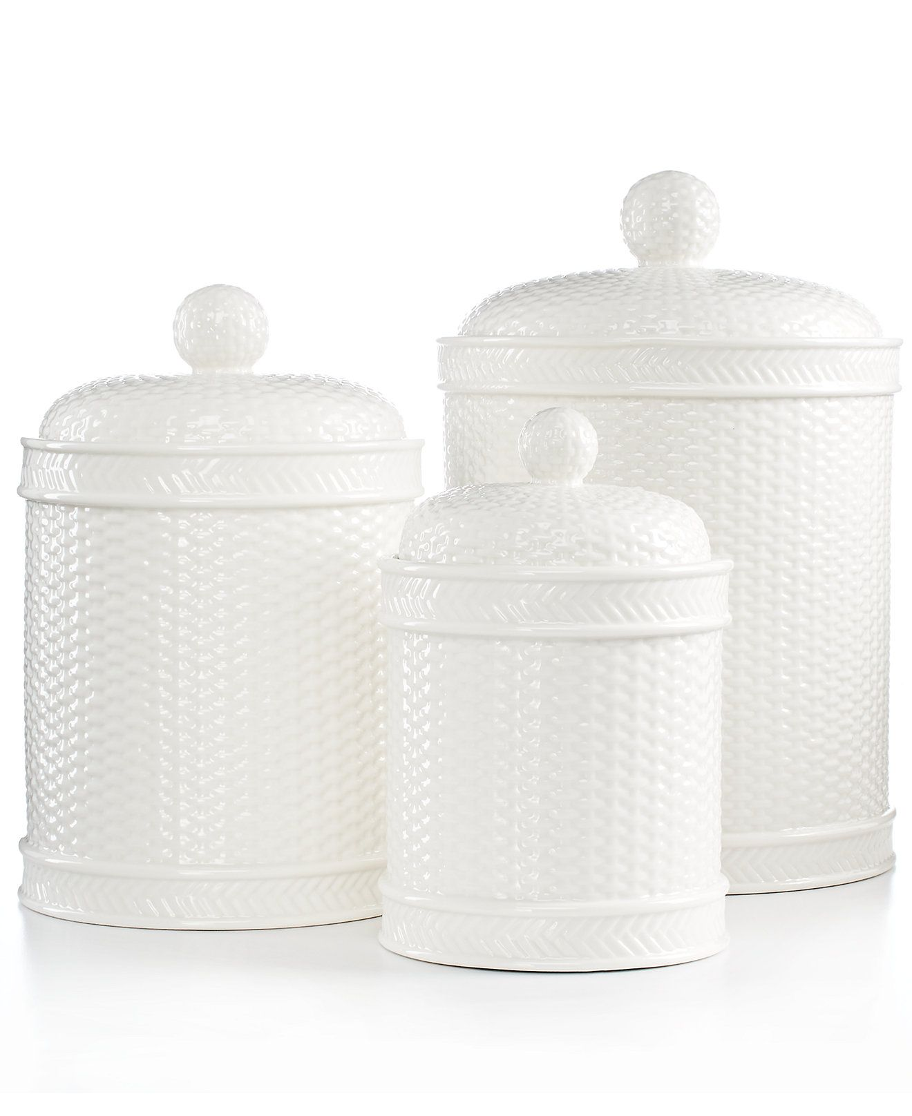 $360.00 ? who are they kidding?!??! Italian Ceramic Canister Set ...