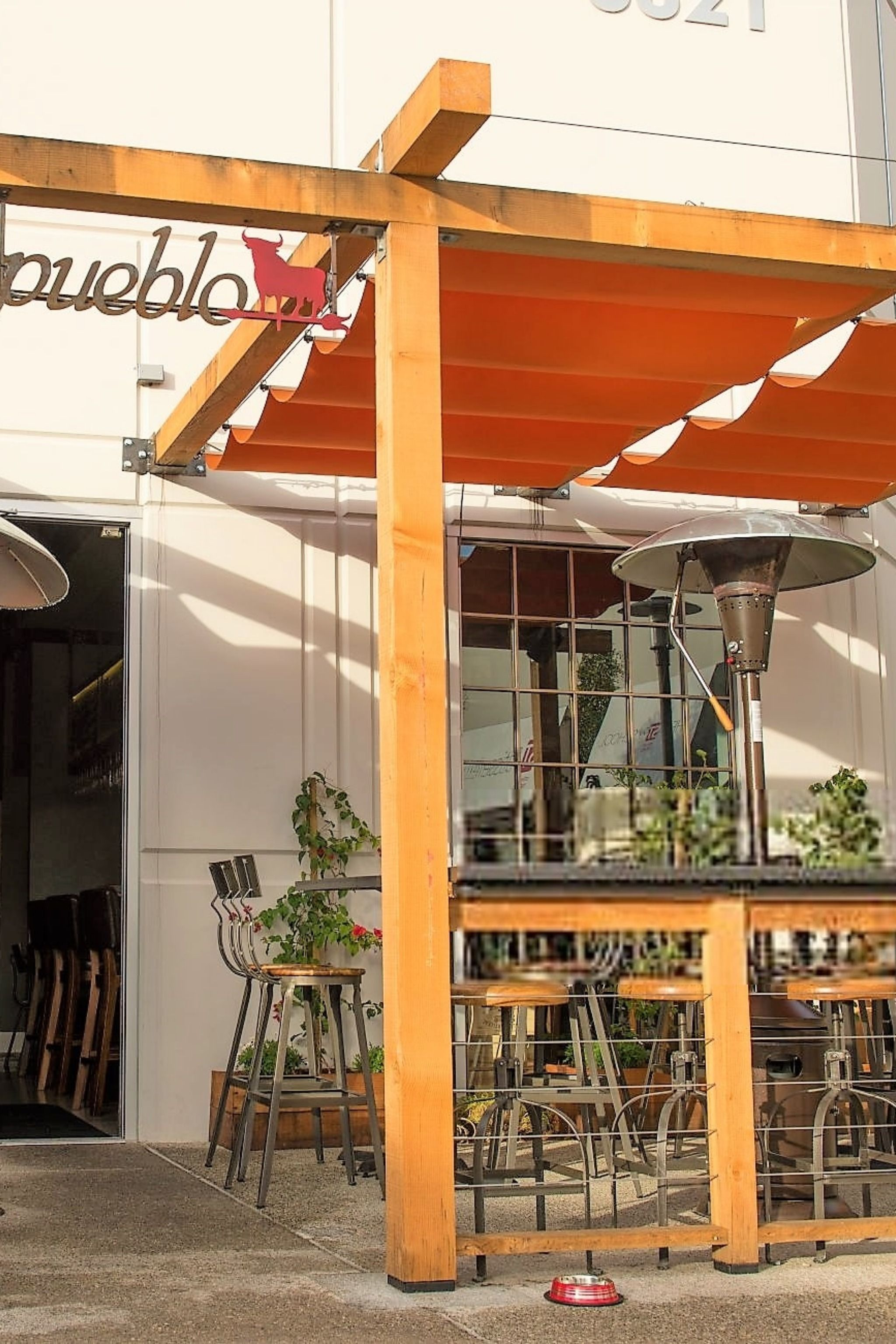 Look At These Red Cableshade Canopies At The Pueblo Restaurant In Costa Mesa Choose From 100 S Of Available Sunb Pergola Shade Fabric Canopy Pergola