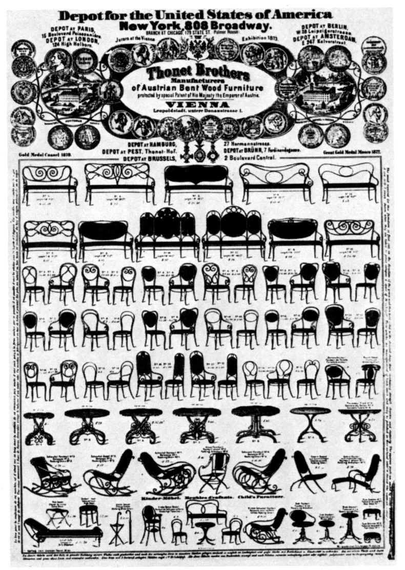 American Distributor Of Thonet Furniture Poster 1873 In