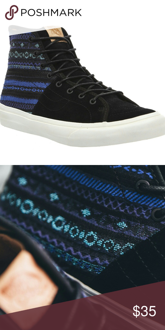 e2bb501e0b91eb Nib mens high top deacon vans This is a new pair of men s sk8-hi Decon  Italian weave blue and black. I also have these available and smaller men  sizes and ...