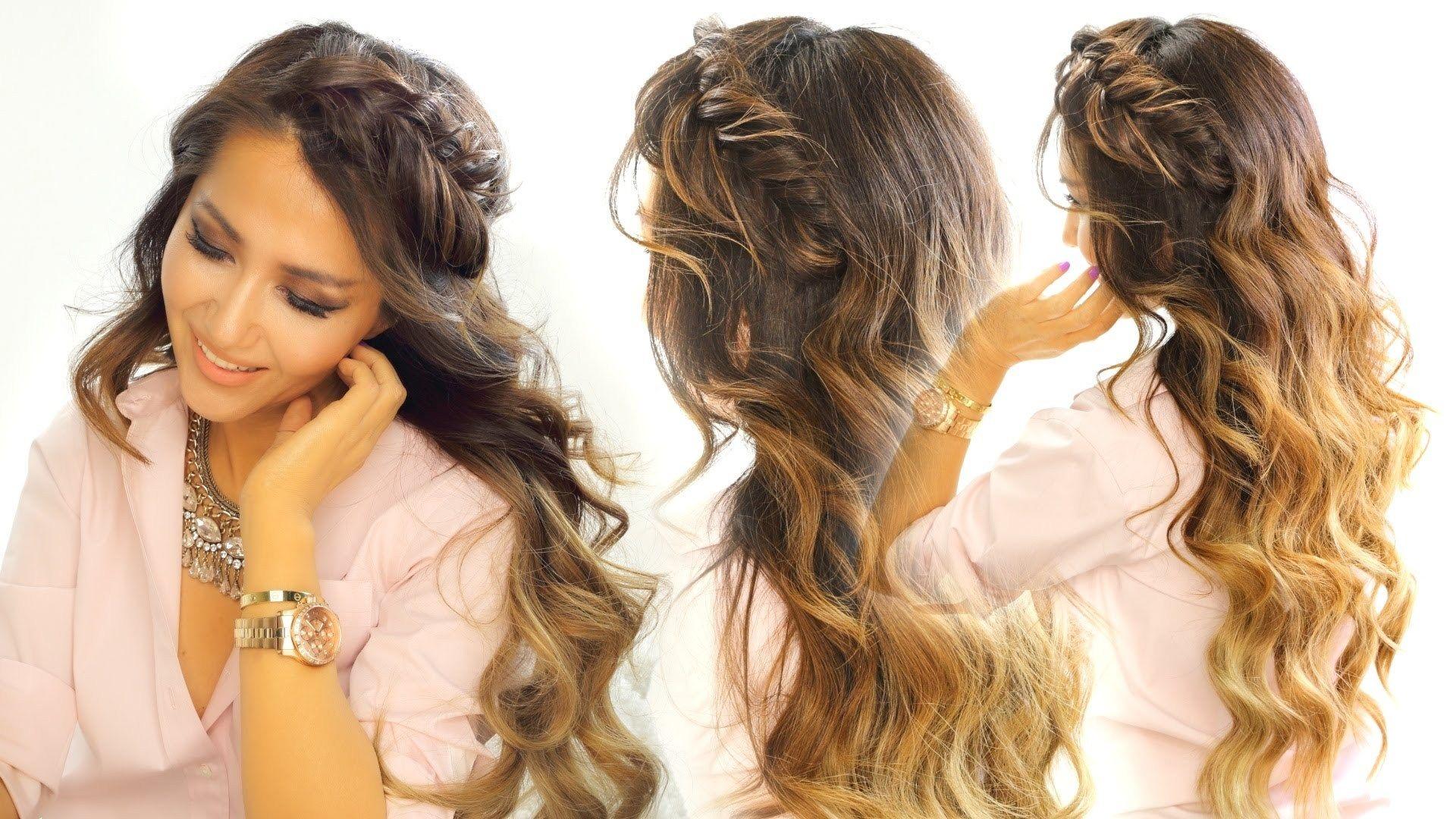 Schone Susse Everyday Frisuren Frisur Frisuren Lange Lockige Haare Einfache Alltagsfrisuren Einfache Frisuren Fur Langes Haar