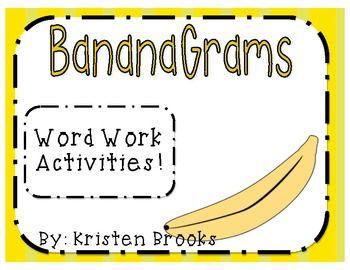 Banana Grams (Word Work Activities and Record Sheets)