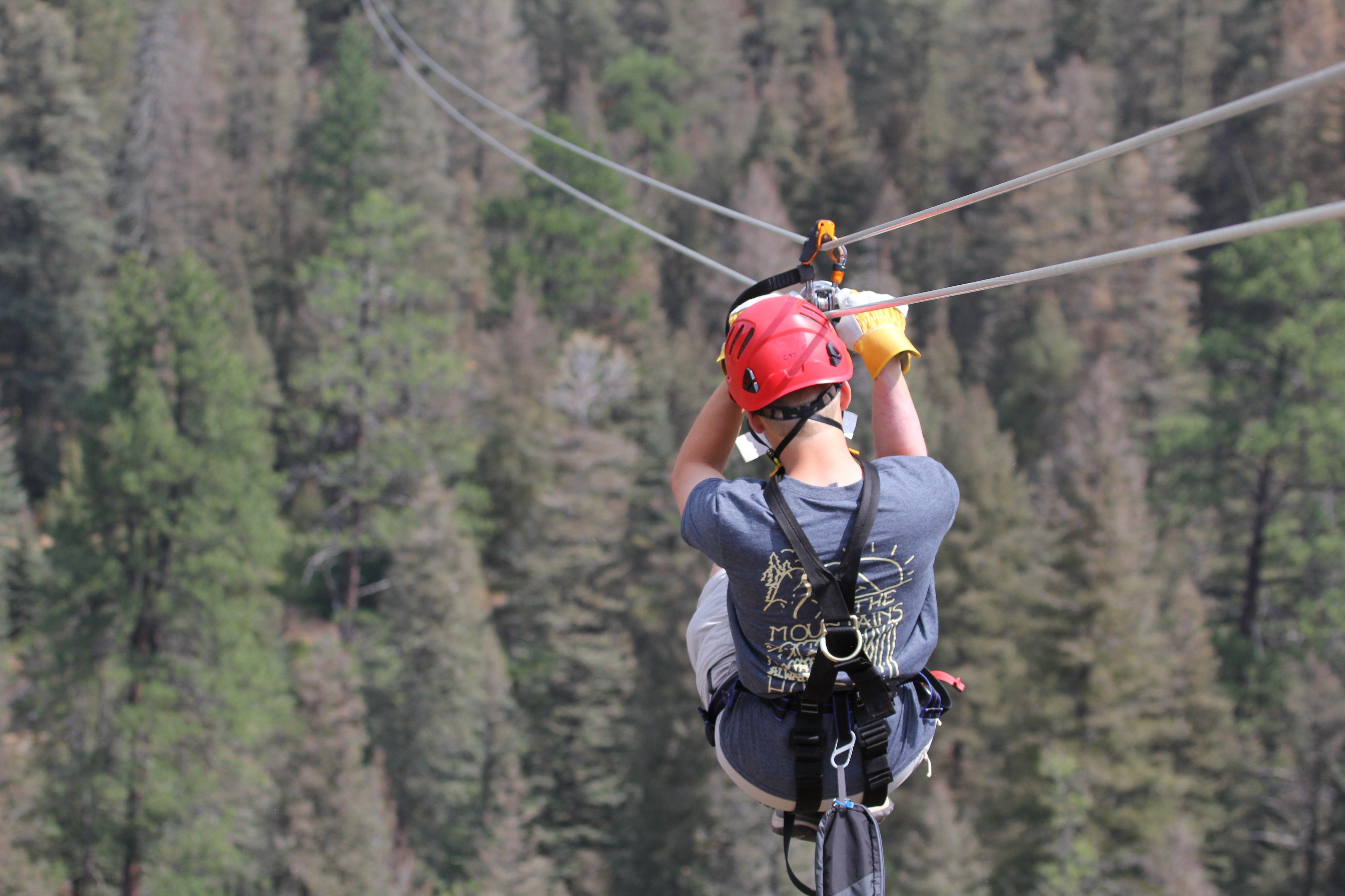 1 500 Ft Zipline Over Hiking Trails In The Seven Falls Park Incredible Thrill Zipline Soaring Waterfalls Coloradospring Ziplining Seven Falls Autumn Park