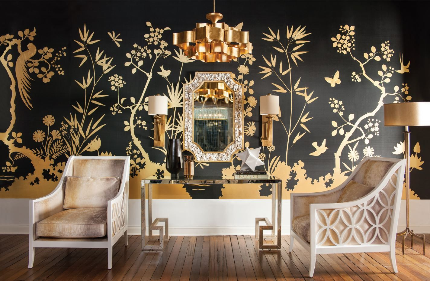 Grand Lotus Chandelier By Currey Company