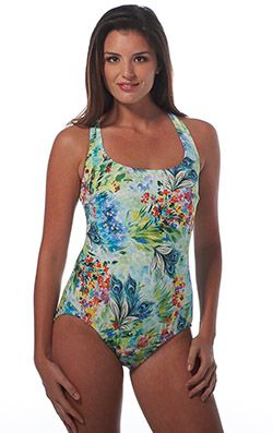 a0e30c258f08d Longitude Swimwear Romantic Shirred X Back Tank | Fashion ideas ...