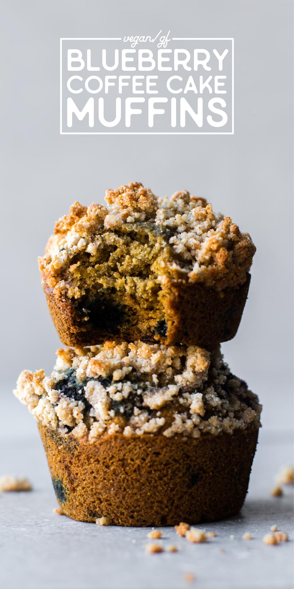 Blueberry Coffee Cake Muffins Vegan Gluten Free Oil Free Recipe Coffee Cake Blueberry Coffee Cake Muffins Vegan Coffee Cakes