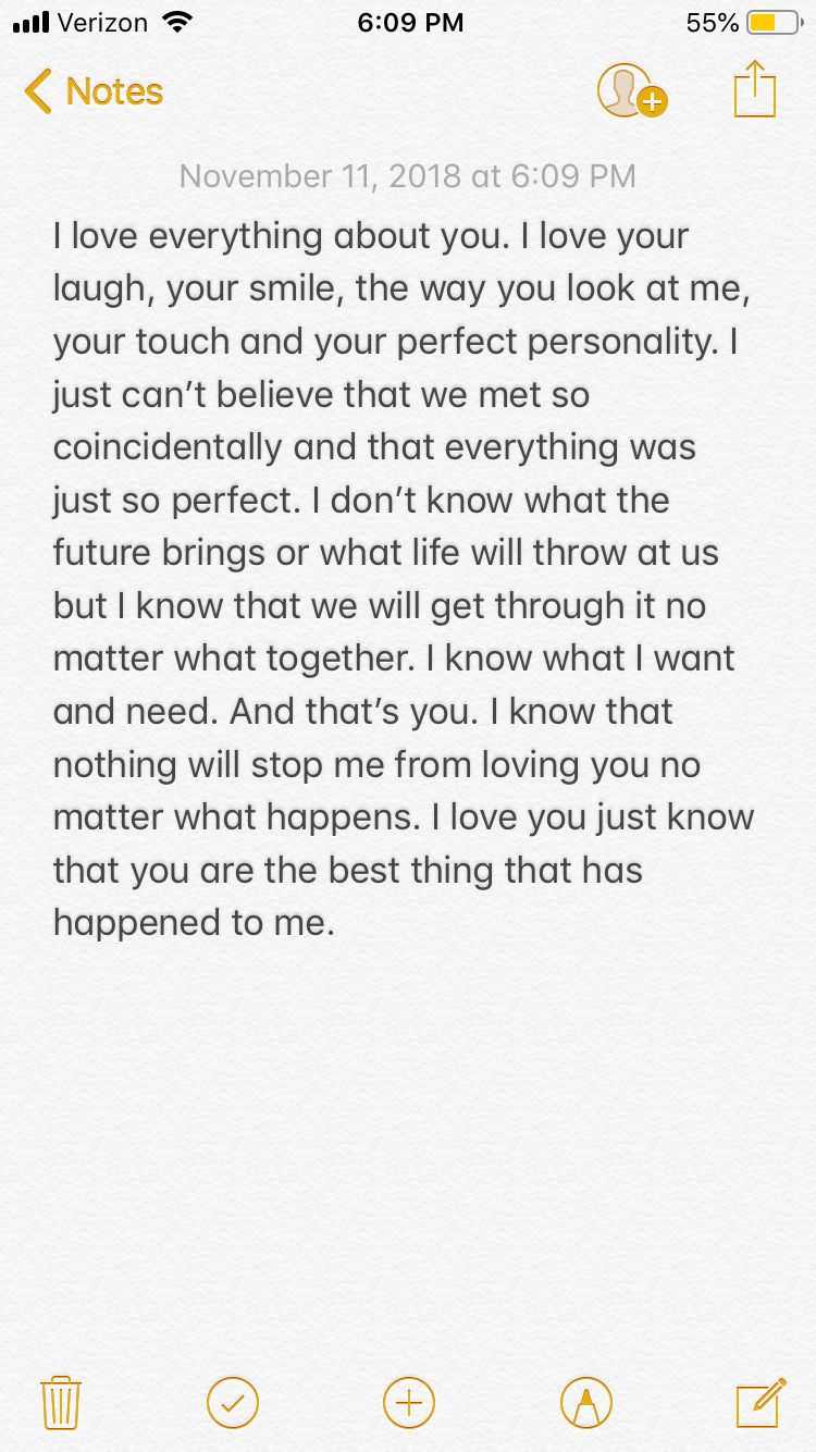 Message to my boyfriend