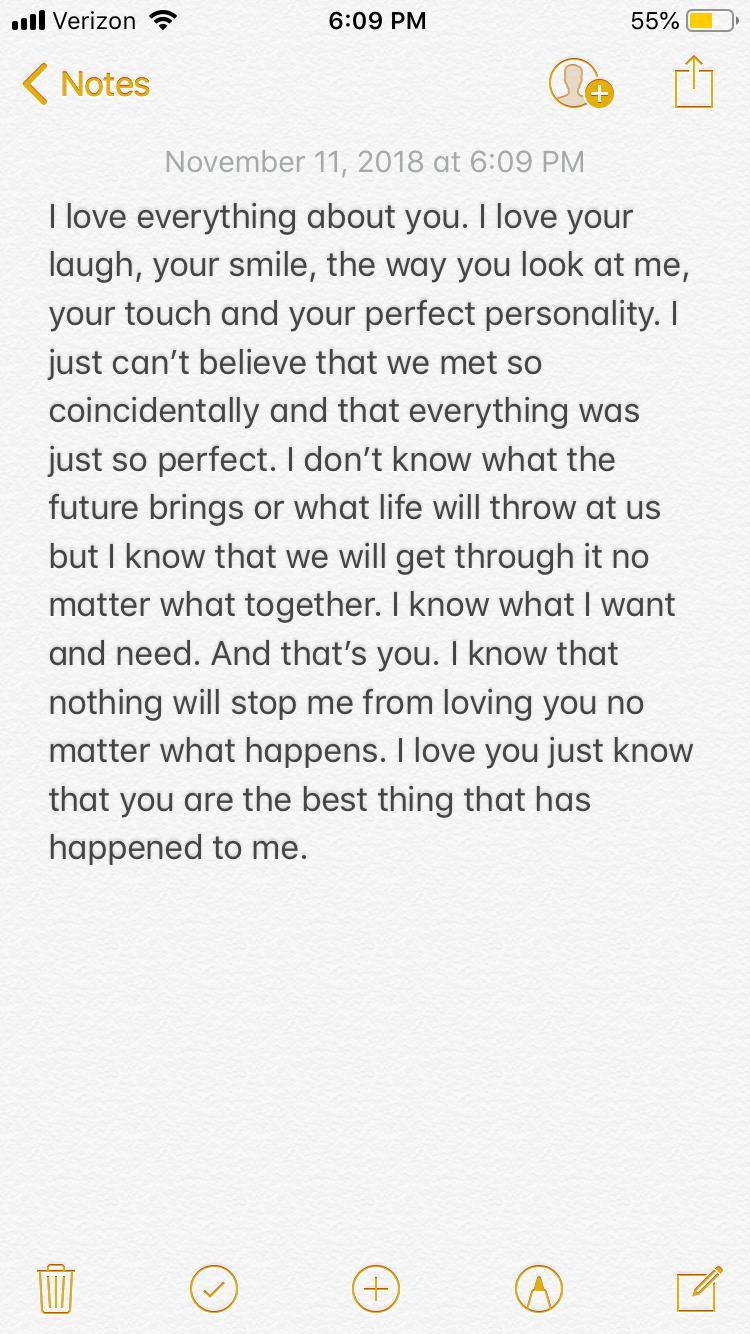 Message to my boyfriend