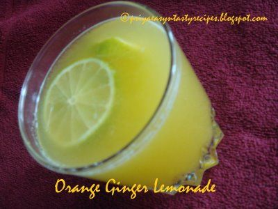 Orange Ginger Lemonade - I had this at a steakhouse and it was really good. Now to try this to see if it is close to that...