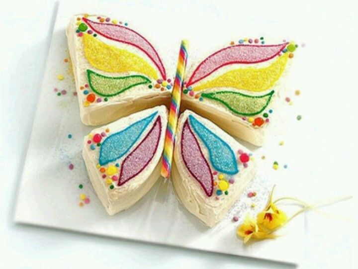 Cut out butterfly cake Cake Decorations Pinterest Butterfly