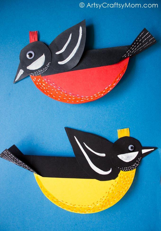 Rocking Spring Bird Paper Craft Kids Craft Stars Bird Paper
