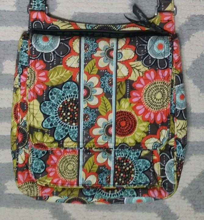VERA BRADLEY Double Zip Mailbag Crossbody Bag in Retired Flower Shower    Clothing, Shoes   Accessories, Women s Handbags   Bags, Handbags   Purses    eBay! b5fdf31775