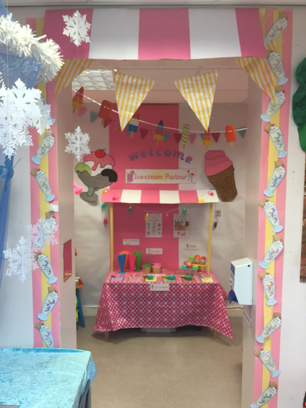 Classroom Valentines Design ~ Ice cream parlour role play eyfs bharti