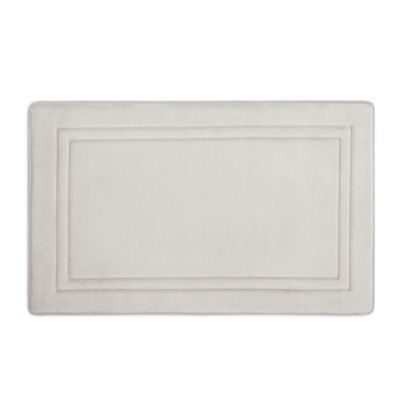 Smart Dry 21 X 34 Memory Foam Bath Mat In Chrome Products