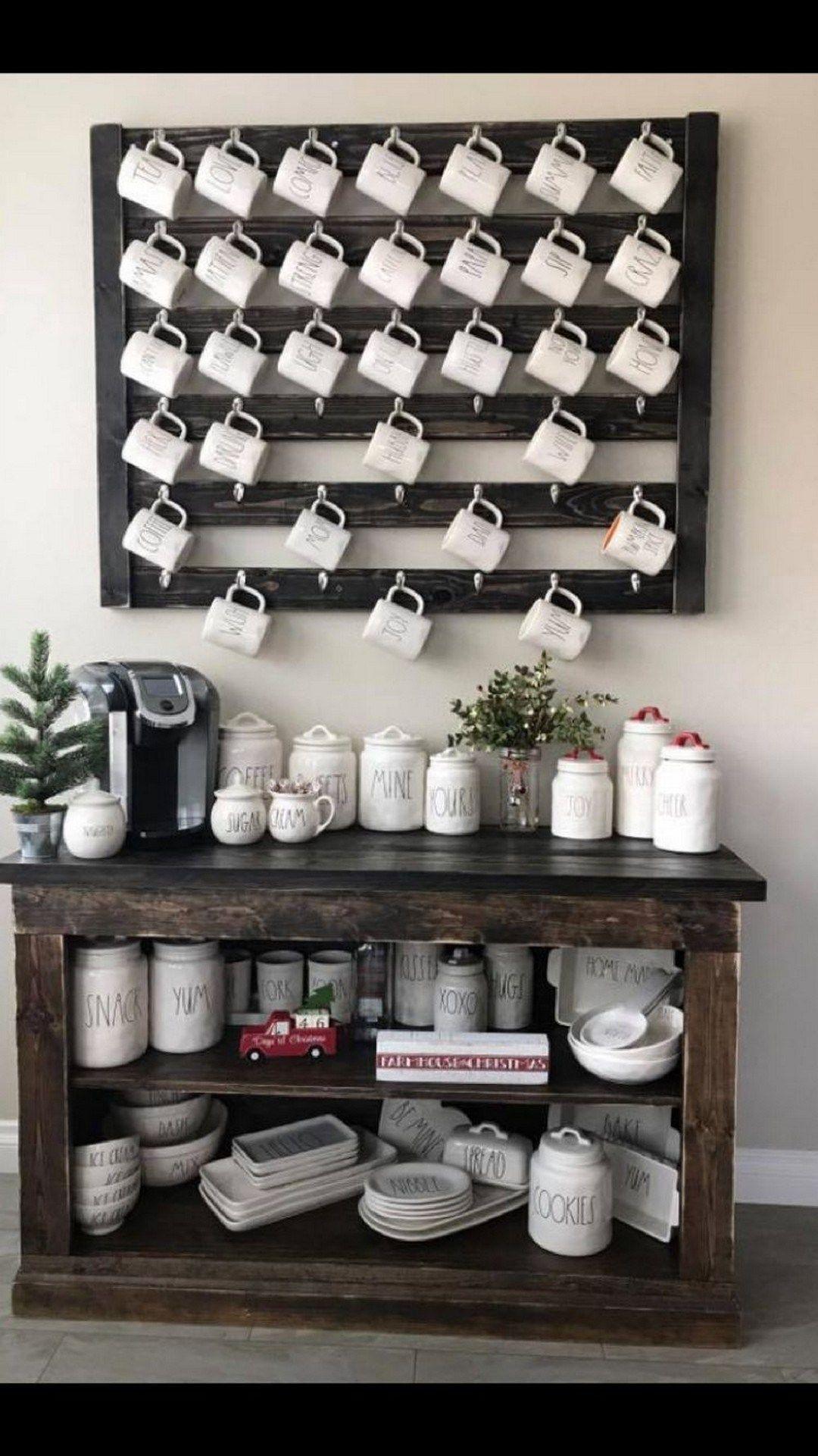Coffee Bar Mug Display