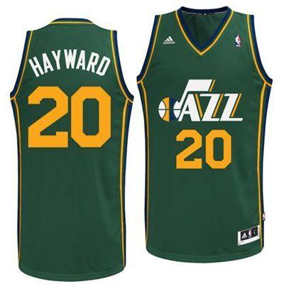 bf41ba453 Utah Jazz Gordon Hayward  20 Alternate Swingman Jersey (Green ...