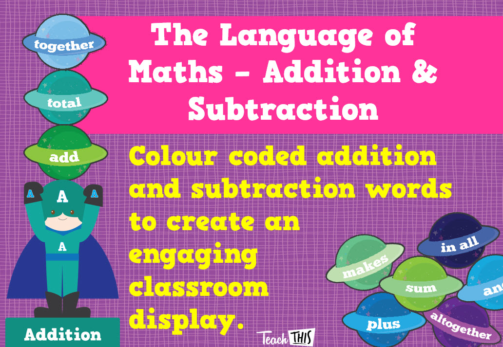 The Language Of Maths - Addition and Subtraction Planets ...