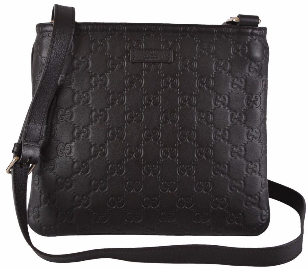 030128fb4a NEW Gucci 201538 Brown GG Guccissima Small Crossbody Messenger Bag ...