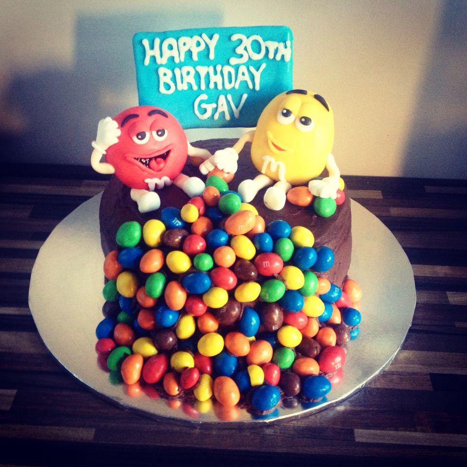 MM Chocolate birthday cake My baking Pinterest Chocolate