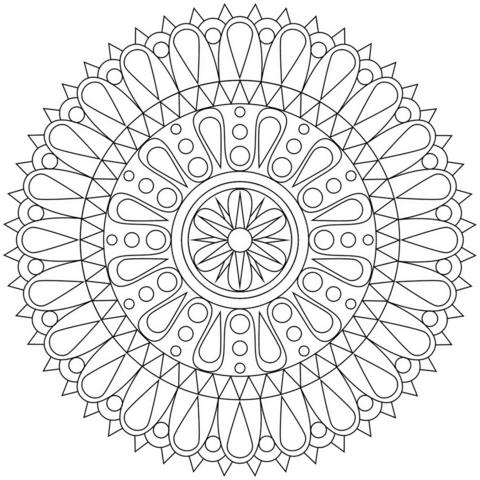 Mandala Abstracta Dibujo para colorear. Categorías: Mandalas ...