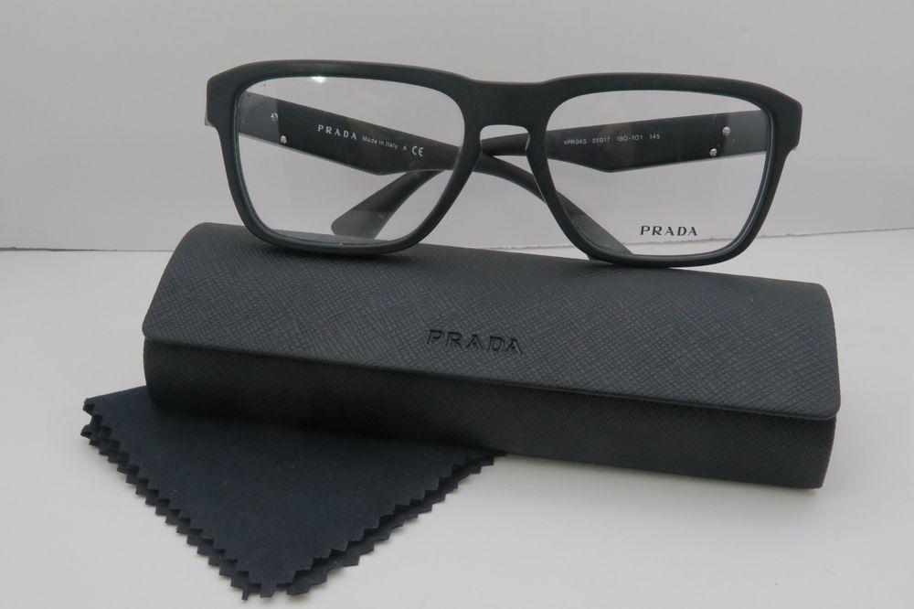 e4f29dd01795 Prada Men s Blacl Glasses in case VPR 04S 1BO-1O1 55mm