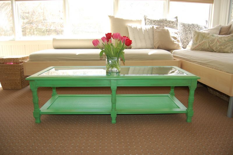 Green Painted Coffee Table Painted Coffee Tables Table Decor