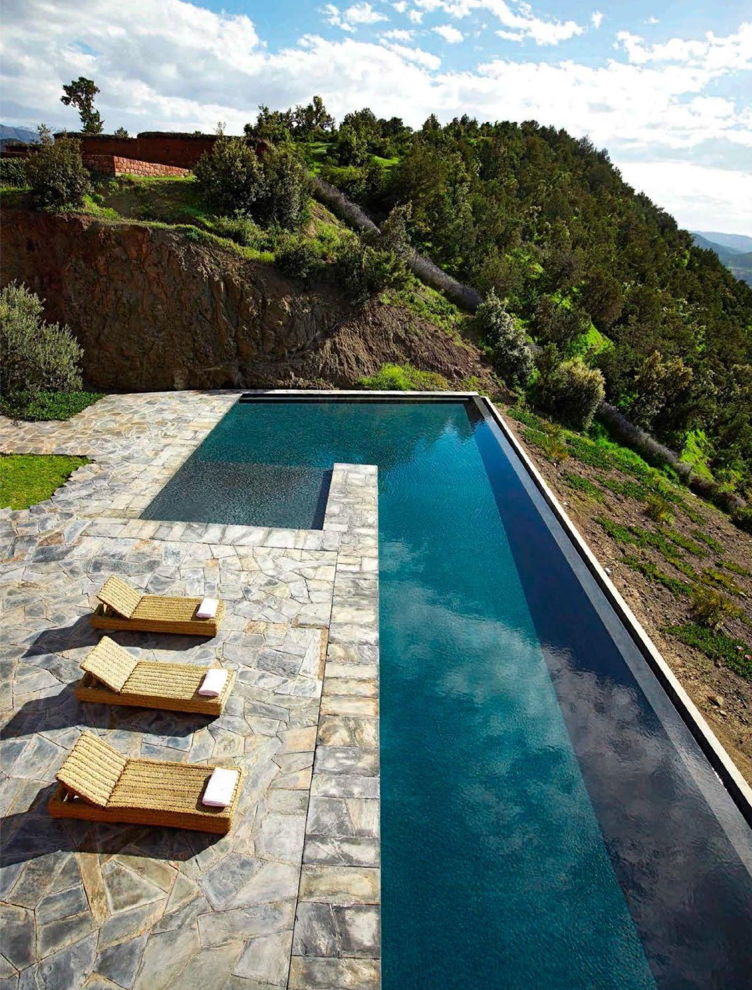 Piscina en el atlas piscinas en 2019 piscinas ideas - Piscinas modernas ...