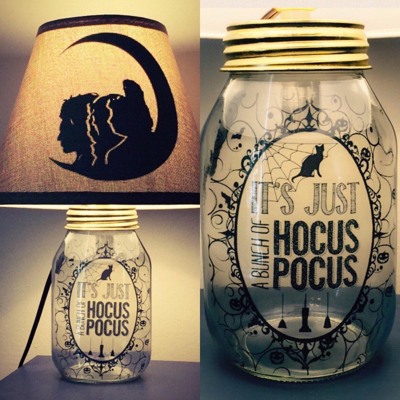 Hocus Pocus Inspired Mason Jar Character Lamp Etsy In 2020 Jar Lamp Mason Jars Mason Jar Lamp