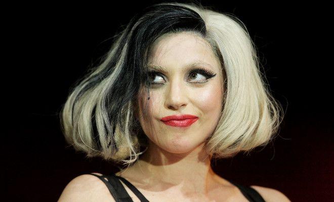 Black White Hair Lady Gaga Lady Gaga Bob Haare Bart