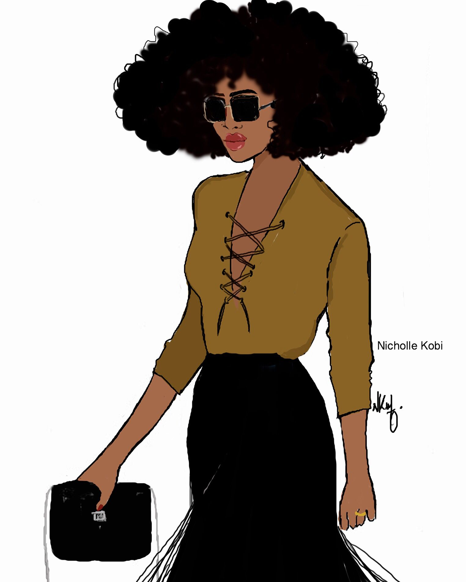 Fro Girl With Attitude. Nicholle Kobi Illustrations