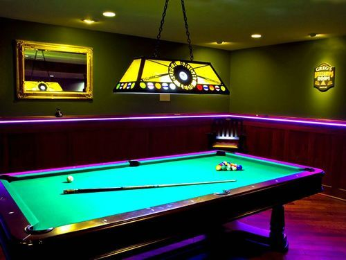 Cool pool table lights