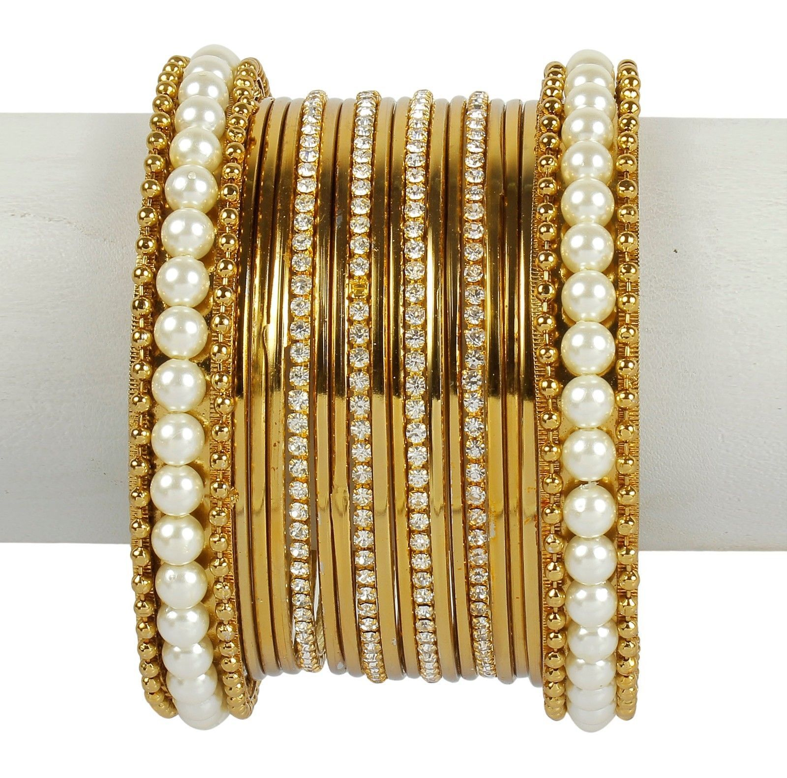 indian ethnic bangles jewelry bollywood bridal gold plated
