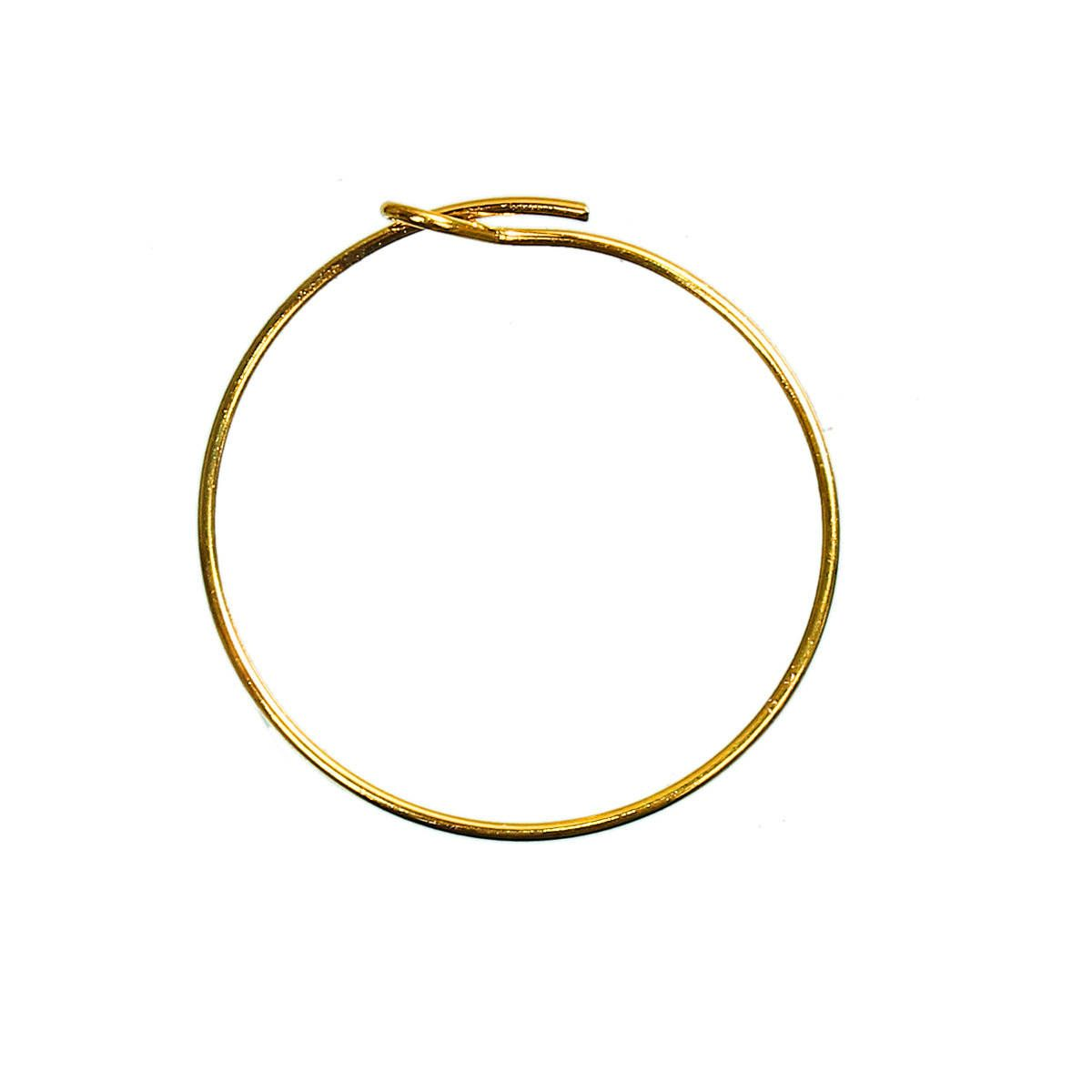 Wire Hoops - 25 mm Straight End Wire Rings - 25 Gold Hoops - Wine ...
