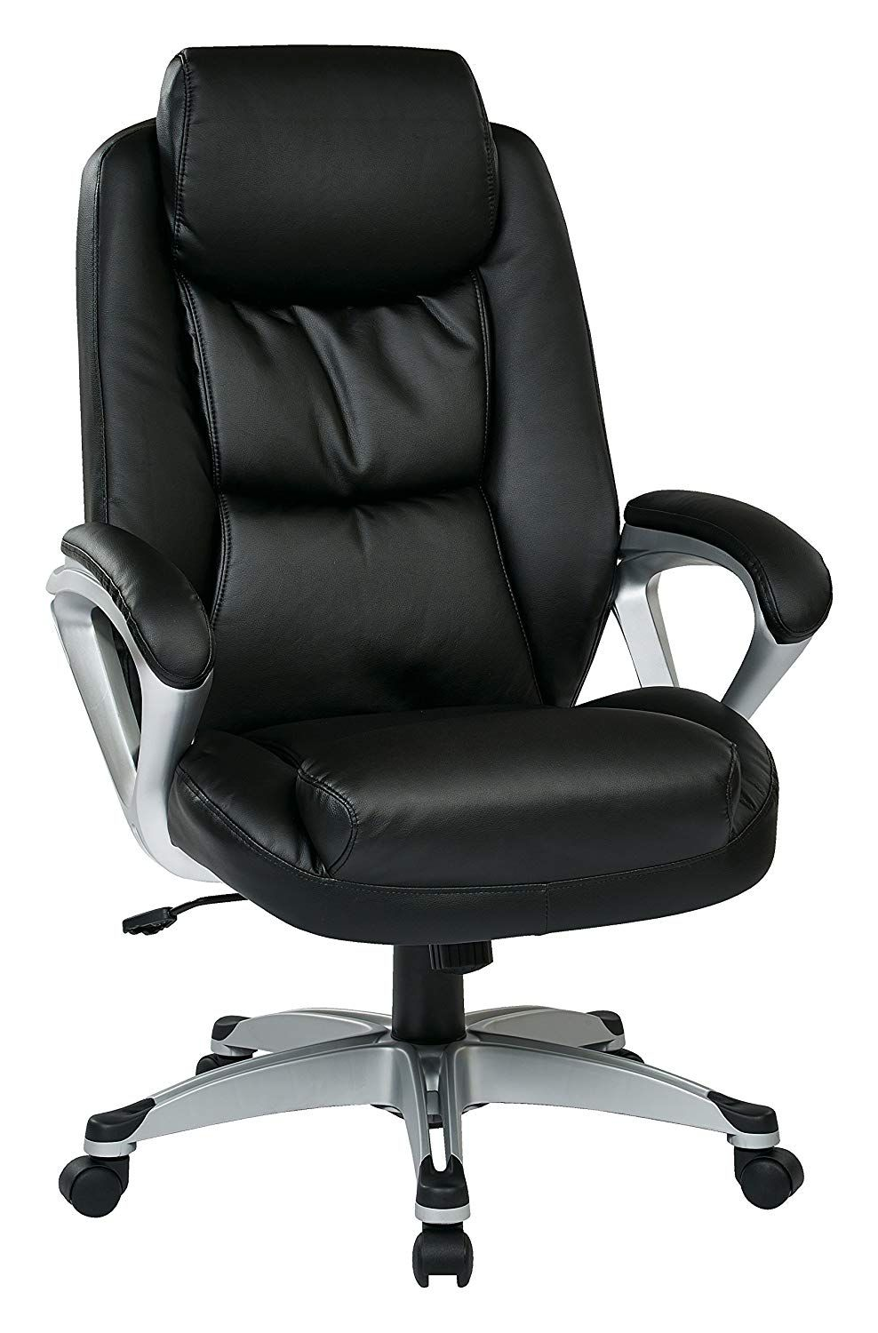 Office Star Executive Eco Leather Chair With Coil Spring Seat
