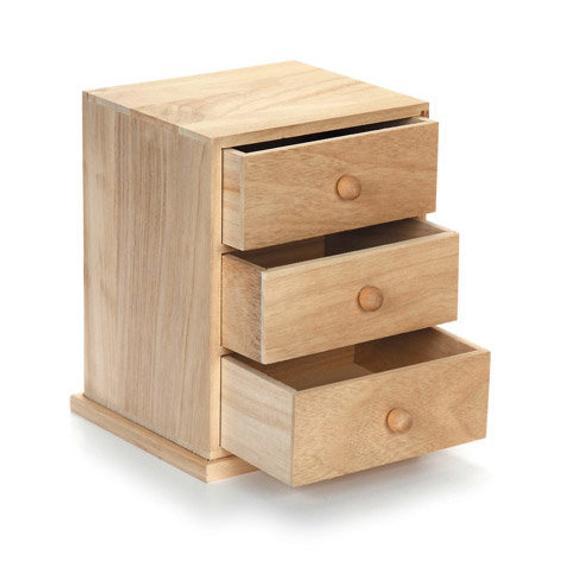 Wood Drawer Box Set Unfinished Cabinet Makeup