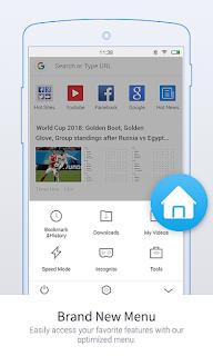 تحميل تطبيق Uc Browser Mini متصفح خفيف وسريع للأندرويد مجانا بآخر إصدار تطبيقات Tetbekat New Menu Browser Mini