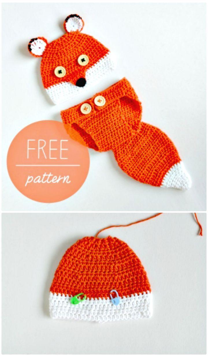 50 Free Crochet Fox Patterns - Crochet Fox Hat | Pinterest | Gorros ...