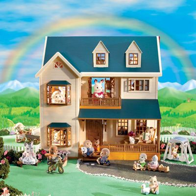 Calico Critters Deluxe Village House Blast Groceries