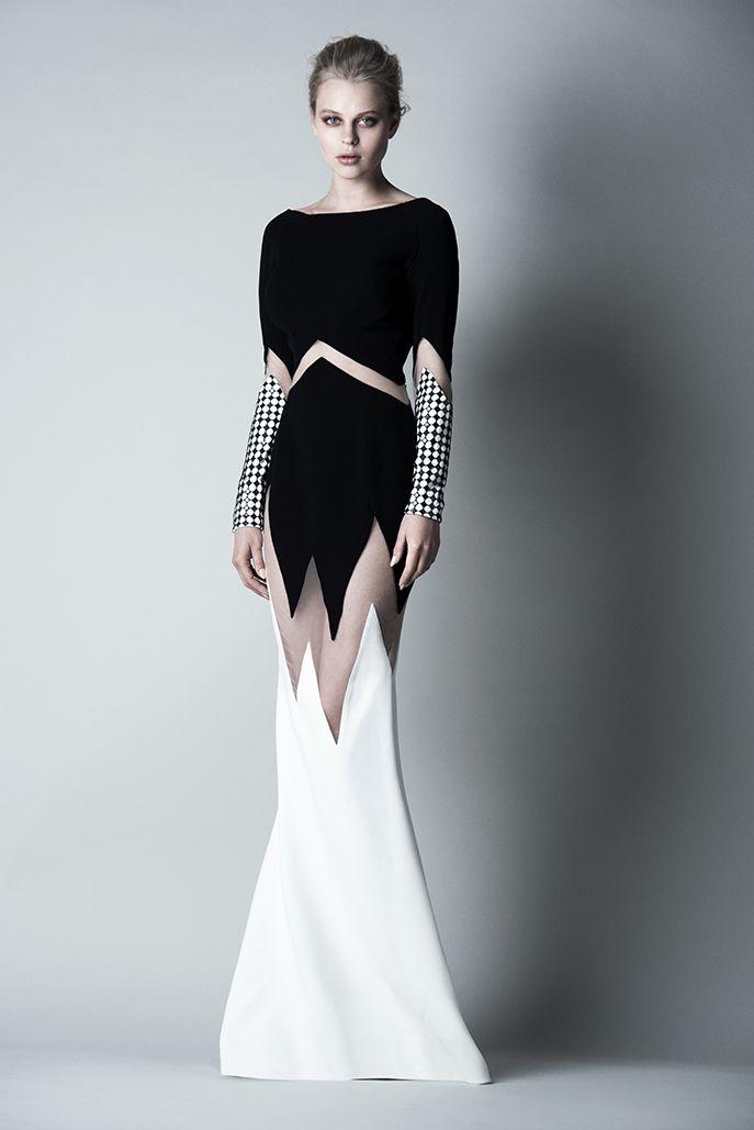 www.saiid-kobeisy.com | Vestido coctel | Pinterest