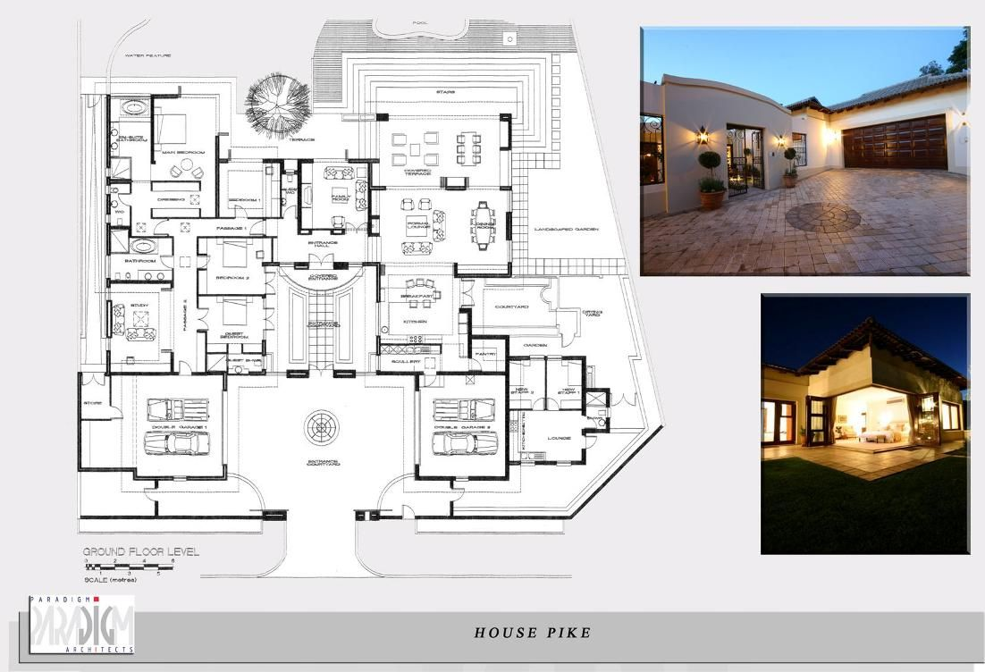 contemporary house plans with courtyards | House Pike Morningside ...